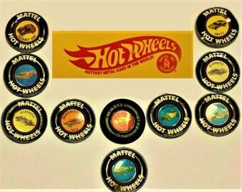 Vintage Mattel Hot Wheels Redline Buttons, Your Choice