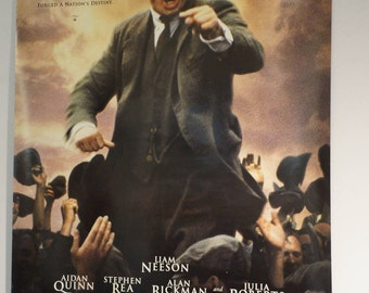Michael Collins authentic, double-sided theater one-sheet poster, Liam Neeson, 1996