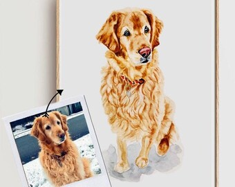 Pet portrait portrait custom Custom pet portrait Pet Memorial Best friend birthday gifts Christmas gifts for boyfriend Gifts for mom