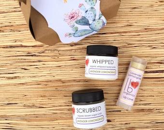MINI SPA SET // Skindulgence Organic Gift Set // Lavender Lemongrass Gift Set