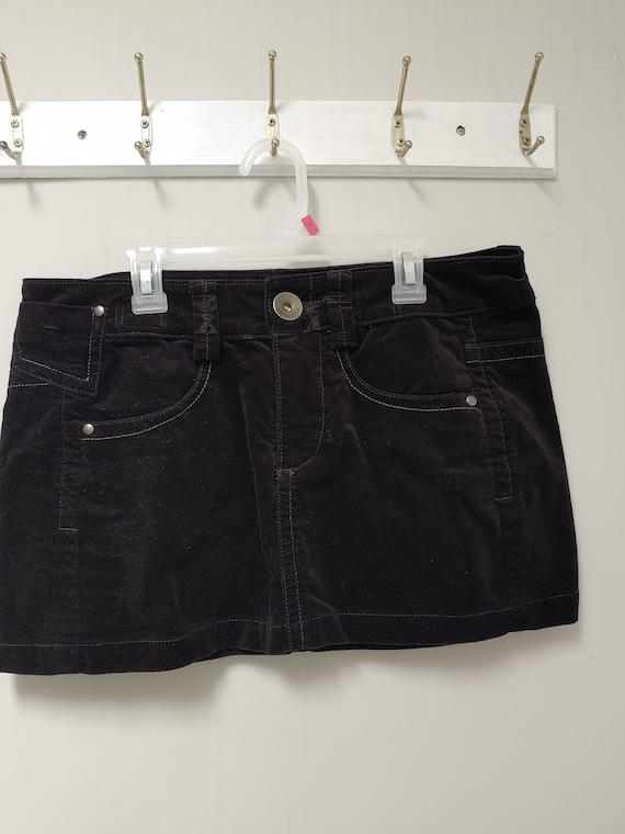 Cute LOVELY Vintage 1990/'s /'Gringo/' Black Velvet /'LOVE/' Boho Skirt Waist 28 Inches