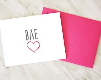 BAE Card / Before Anyone Else / Love Card / Valentine's Day Card