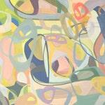 Mid Century Painting,Original Painting,Abstract,Modern, 24 x 48, canvas art, conceptual, loft art, horizontal,verticle , large