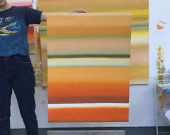 Orange painting, orange and yellow painting,fine art,Oil Painting,Original,glam,luxury,Minimal,Abstract Painting,Abstract Oil Paint