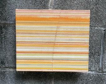 Abstract, layered, stripe painting, orange art, warm tones, art, contemporary wall art, decor, stripes, abstract painting, original art, art