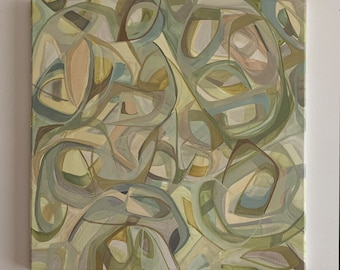 Neutral abstract oil painting, neutral palette, neutral tone, oil painting, oil paint, modern art, modern painting,