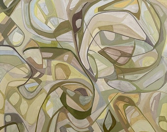 Neutral abstract, abstract painting, oil painting, modern art, abstract, mid century modern, modern art, oil paint, geometric shapes