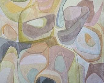 Abstract art,original painting,linen,natural fiber,abstract painting, mid century,modern painting, medium painting,earth tones,natural color