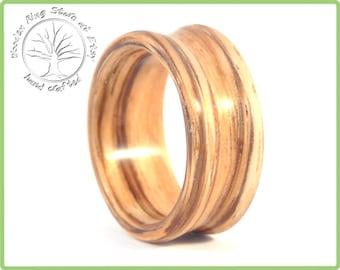 Zebrawood ring for men. Wood ring for men, wood ring men. Natural jewelry, bohemian jewelry, boho jewelry, Bohemian ring, boho ring