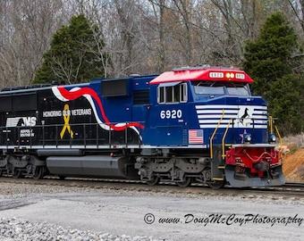 Norfolk Southern Veterans Tribute Locomotive. Photo #9459