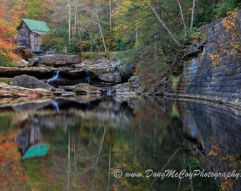 Glade Creek Grist Mill in Babcock State Park, WV #4264