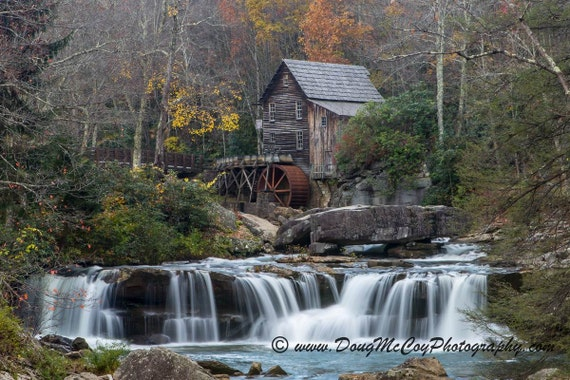 Glade Creek Grist Mill Babcock State Park Photo Wall Picture 8x10 Art Print