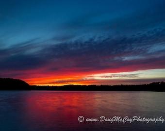 Sunset at Lake Cumberland Ky #9044