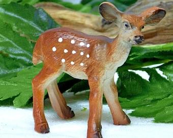 Fawn Figurine Mini Fawn Figurine Baby Deer. Fawn. Resin Deer. Garden Accessory Inside or Outside. Fairy Accessory.