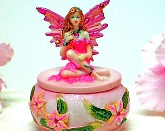 Pink Forest Fairy Trinket Box