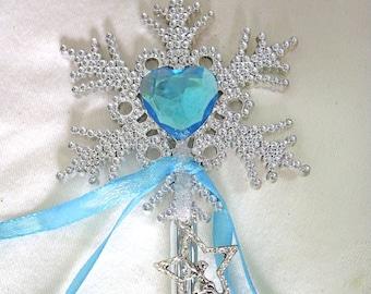 FAIRY WAND TURQUOISE Blue Princess Wand Silver Fairy Charm Heart Wand Mystical Wand Celestial Wand & Heart Wand