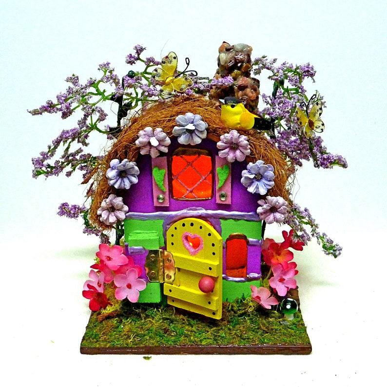 Fairy Garden Christmas Miniature Light Up Holiday Door
