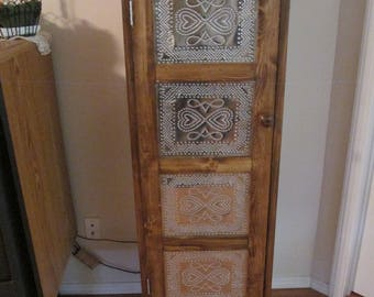 Jelly cpboard with punched tin door panels