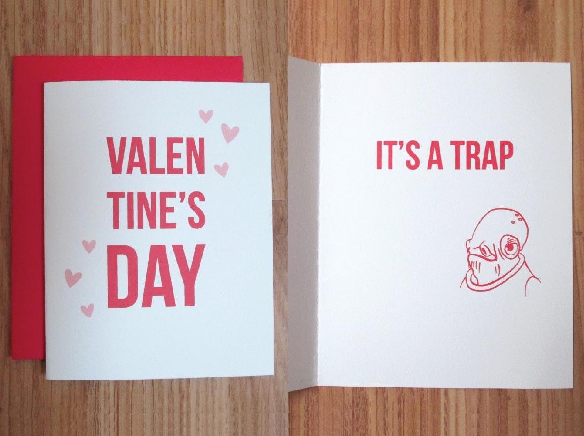 Star Wars Valentine S Day Card It S A Trap Etsy