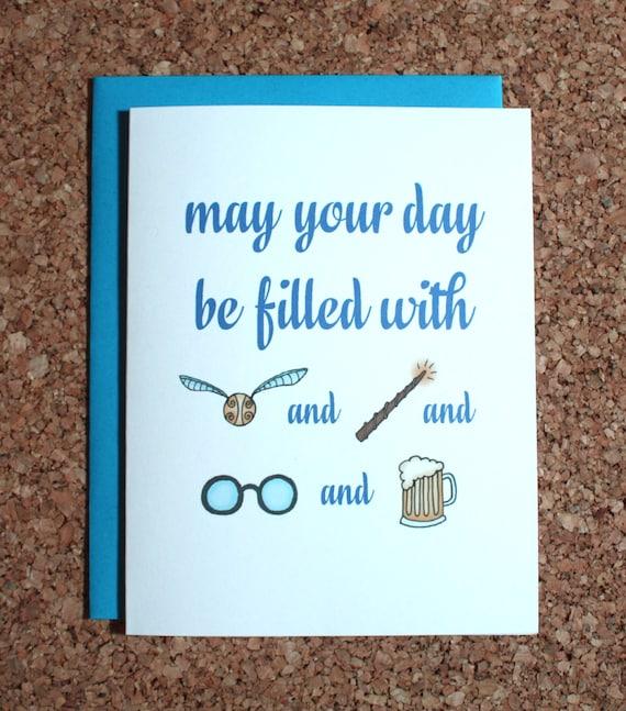 Bekend Harry Potter Card / gevuld met Harry Potter / | Etsy &RU88
