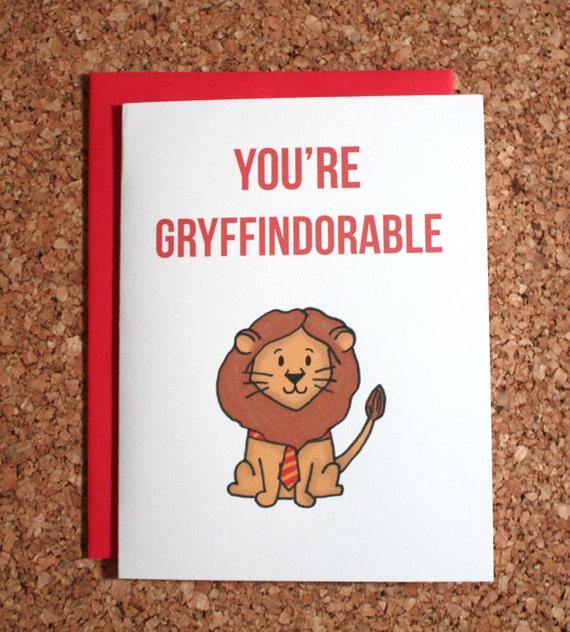 Genoeg Harry Potter kaart Griffoendor / You're gryffindorable / | Etsy #WI48