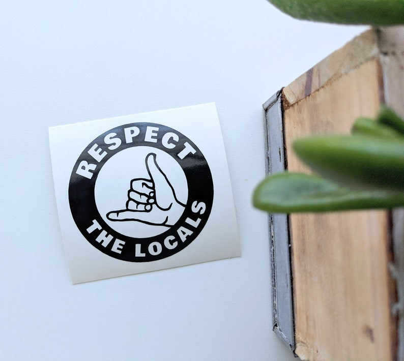 Stay Salty Surfer Vinyl Decal Sticker Salt life Pick sizecolor: Respect the Locals Beach Shaka Hand Florida Local Florida wave
