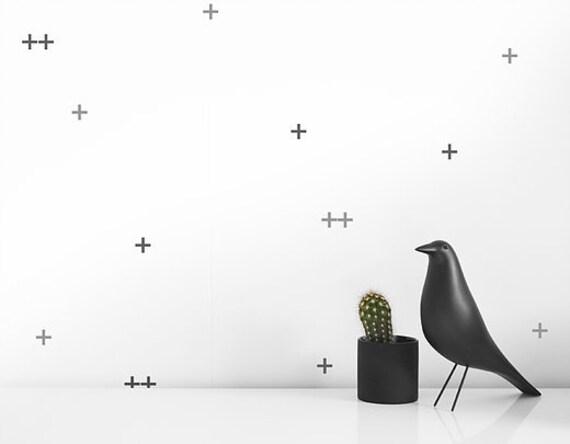 Modern Stickers muraux - stickers de petites Croix en gris | Chambre ...