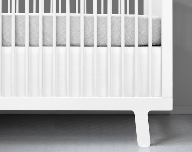 Crib Bedding Modern White Crib Skirt White Crib Bedding | Etsy