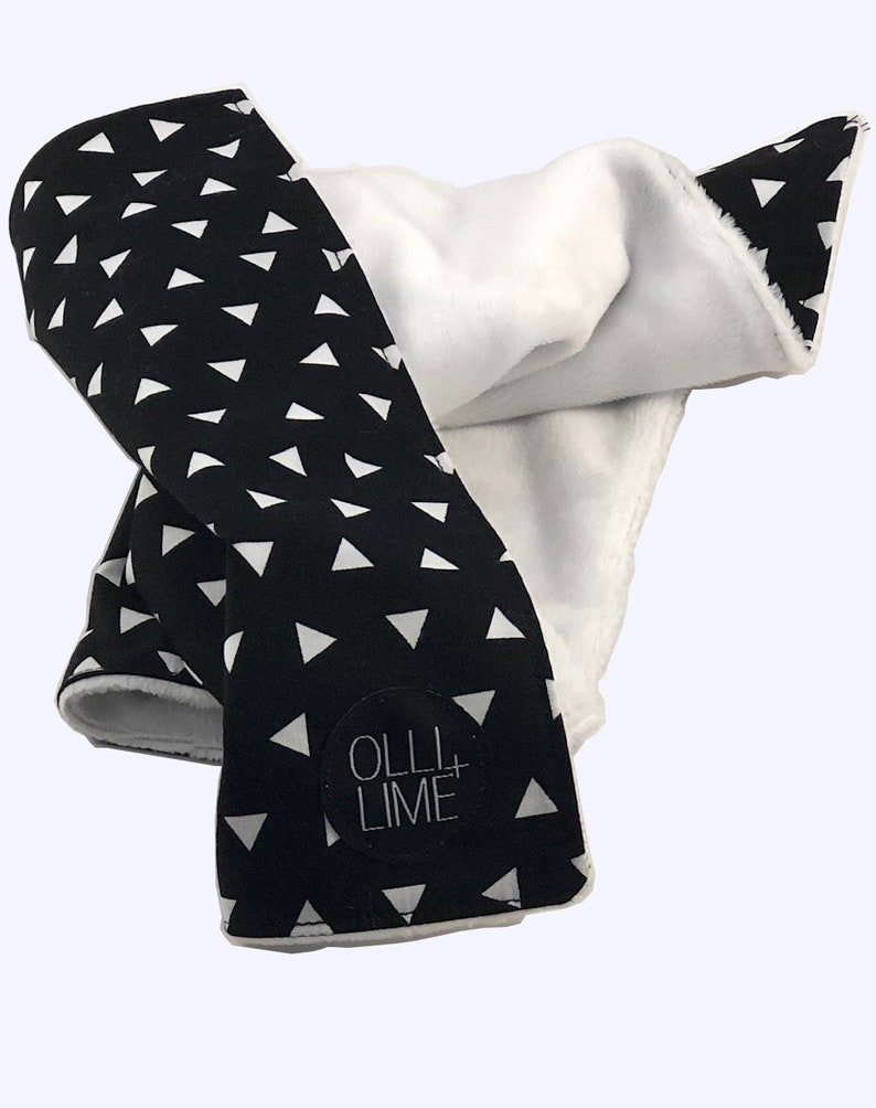 minky baby blanket Lovey blanket Security baby blanket Quick Ship black and white baby blanket blanket for baby