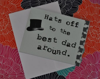 Father's Day Card - Hat's Off to the Best Dad Around