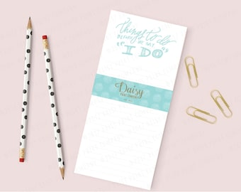 """Bride Notepad - Things To Do Before We Say """"I Do"""""""