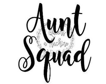 Aunt squad shirt svg automatic download