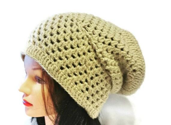 Oversized Hat Baggy Crochet Slouch Beanie Etsy Boho crochet  dfa2db0db33