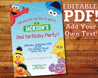 Sesame Street Birthday Party Decoration 12 Printable DIY | Etsy