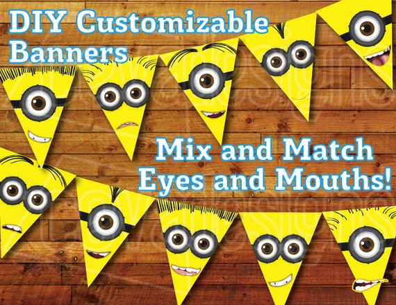 Printable Minion Birthday Decoration Party Bunting