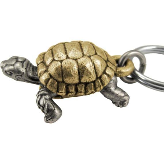 Two-tone Tortoise Anatomy Keychain Turtle Sulcata Tortoise   Etsy