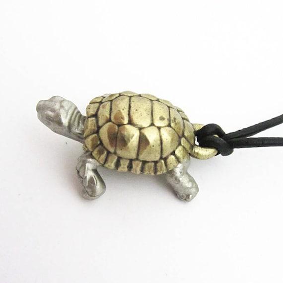 Zweifarbige Schildkröte Anatomie Halskette Sulcata   Etsy