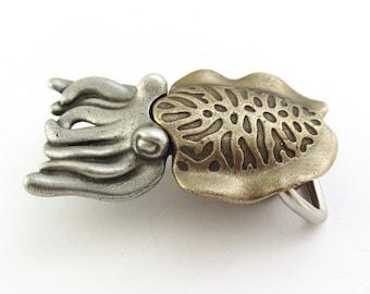 Cuttlefish Belt Buckle - Cephalopod, Marine Biology Squid Buckle