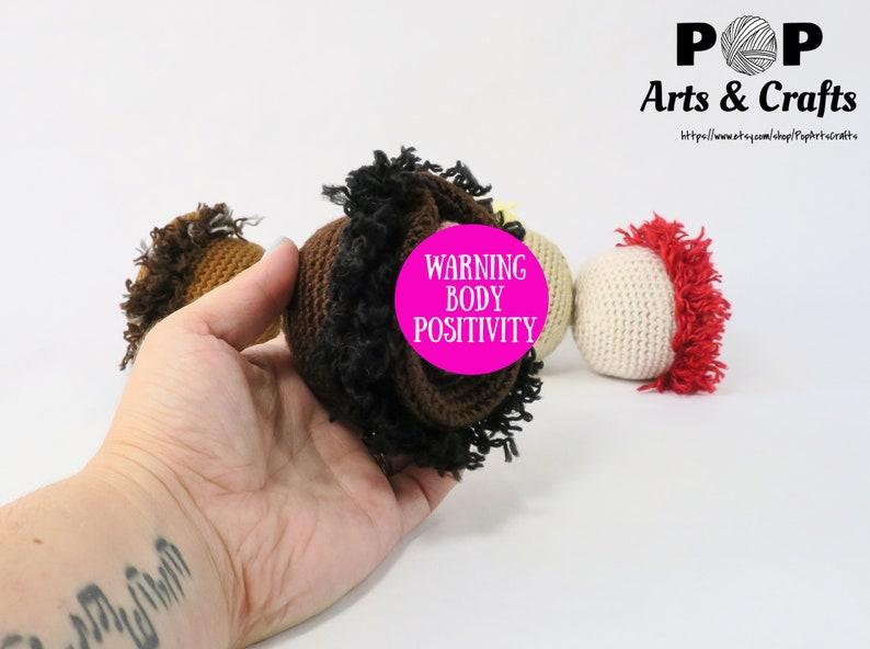 Vulva Stress Ball, Feminist Art, OBGYN Gift, Vagina, Girl Power, Self Love,  Body Positive, Female Nudity, Crochet Art, Fiber Art, Feminism
