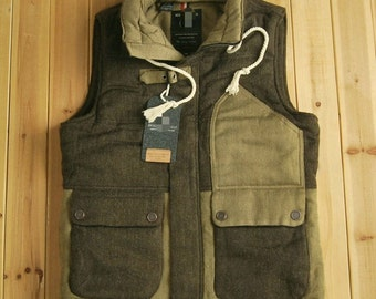 men's winter warm cotton vest jacket army style ONLY LARGE lAST ONE