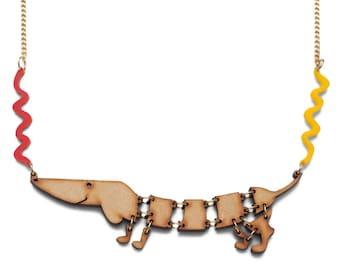 Hot dog necklace