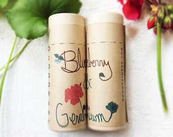 organic coconut oil deodorant / blueberry and geranium  scented / deodorent deodorant  / deodorant stick  deodorant  tube organic skin care