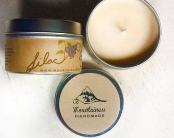 soy candles / lilac soy candle / natural / mom gift soy wax candle / lilac scent / christmas candle / maine made / maine made scented candle