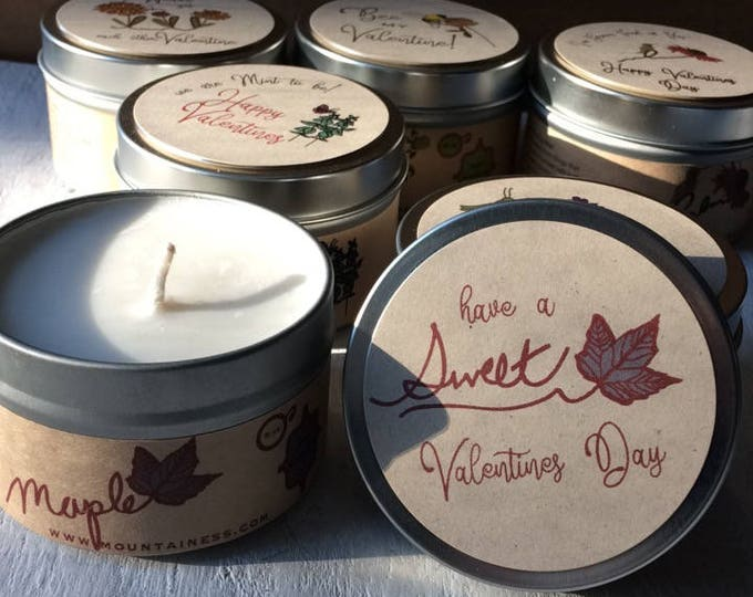 Valentine gift maple candle / soy candle valentines day gift / Valentines gift maple candle Valentines day candle small friends gifts