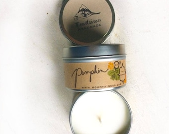 soy candles / Pumpkin soy candle natural / soy wax candle / pumpkin scent / fall candle / maine made/ maine made candles / candles  orange