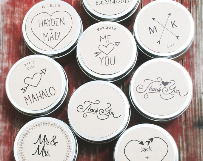 Personalized Scented Candle Favors