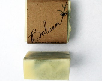 maine made balsam soap  / made in maine with melted snow / maine balsam / maine gift / stocking stuffer /organic soap / unique