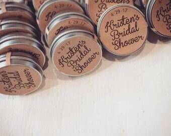 bachelorette favors /  lip balms winter bridal shower Favors / custom lip balm favor / bachelorette favor / organic lip balm
