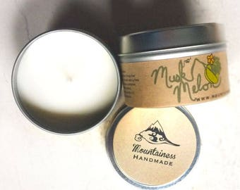 Scented candles / Scented soy candles / natural soy candles / melon scented soy candle phthalate free candle /  natural / travel tin