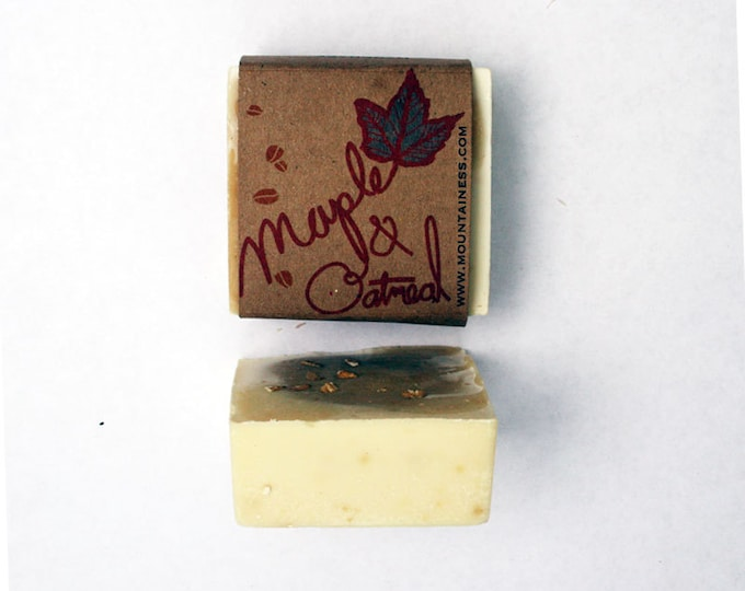 organic maine made maple oatmeal snow soap / oatmeal soap / mens soap / gifts ideas for men / unique mens gift / mens grooming / him / dad